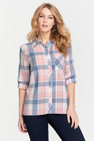 Check Shirt With Collar