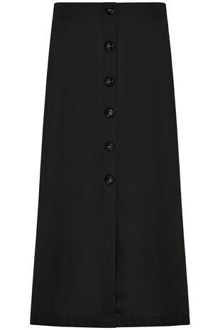 Lightweight Button Skirt