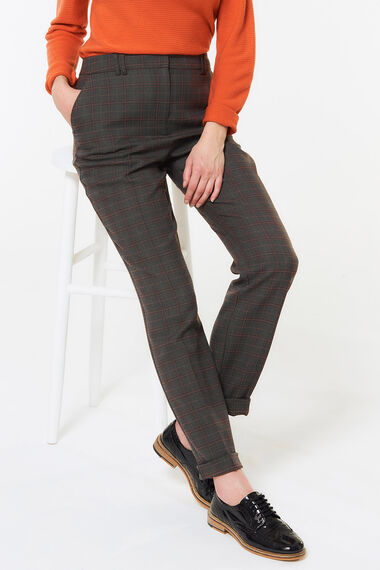 Tapered Check Trouser
