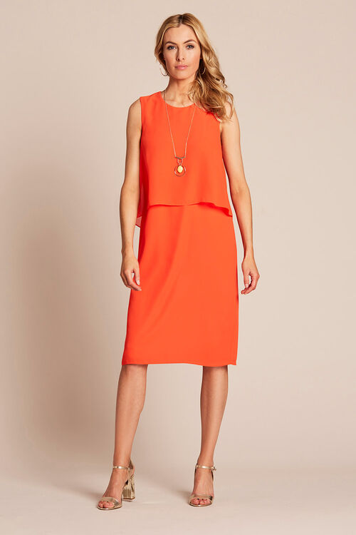 Double Layer Dress With Necklace