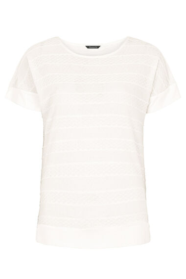 Textured Short Sleeve Top