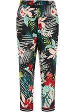 Tropical Print Crepe Trouser