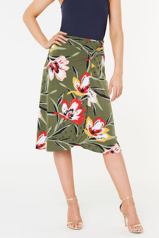 34def8f36fd Floral Buckle Skirt