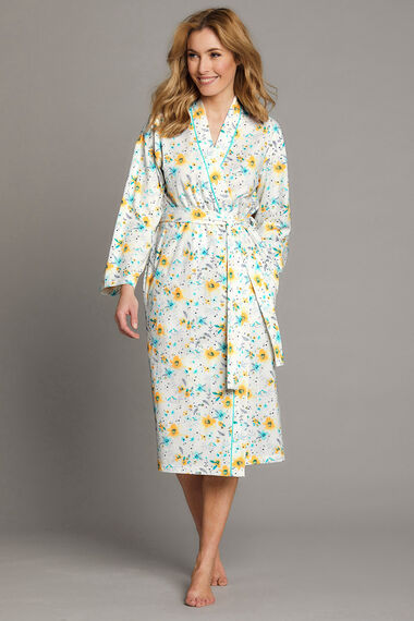 Floral Jersey Dressing Gown