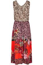 Floral Border Maxi Dress
