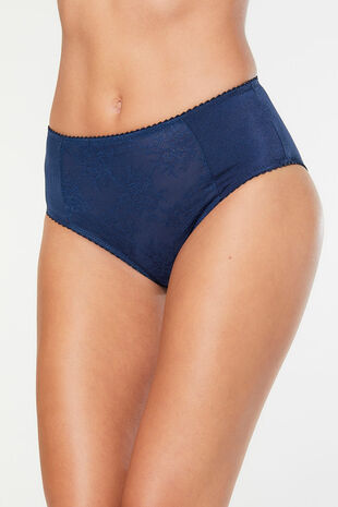 Jacquard High Leg Brief