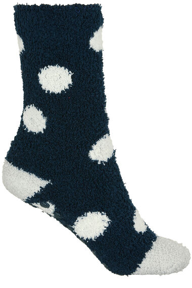 2 Pack Spot and Stripe Cosy Socks