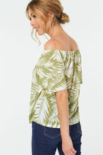 Palm Print Gypsy Top