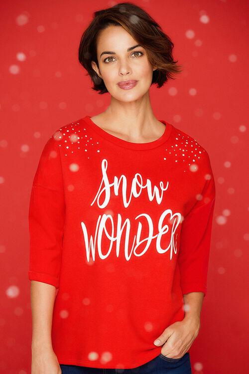 Snow Wonder' Printed Sweat