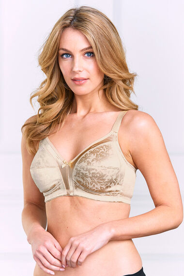 Embossed Firm Control Bra