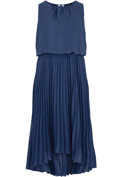 Sleeveless Pleated Skirt Dress