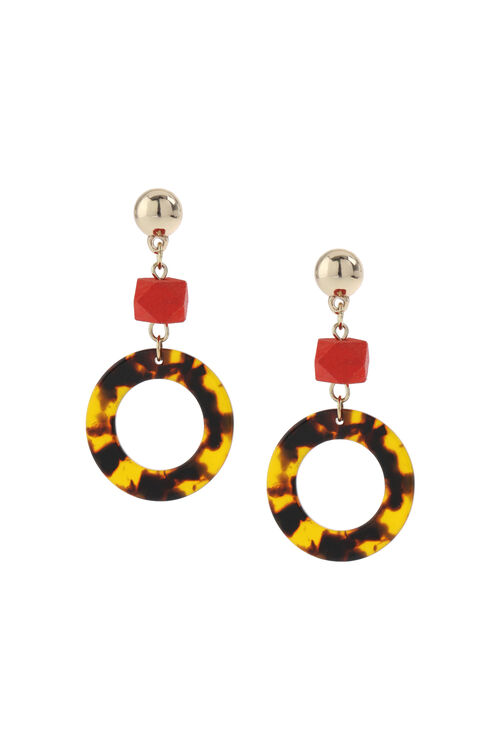 Muse Resin and Bead Drop Earring