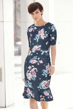 Printed Peplum Hem Shift Dress