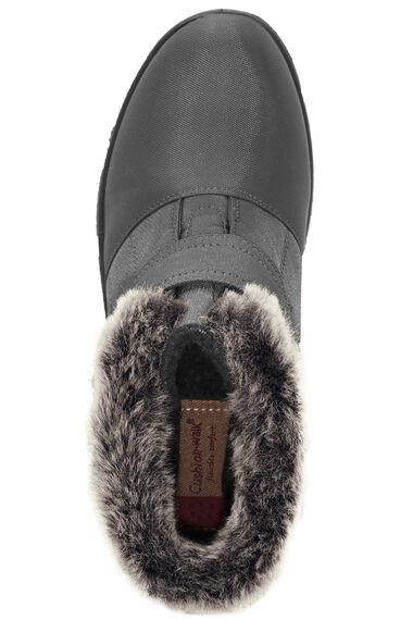 Cushion Walk Touch Fasten Faux  Fur Trim Ankle Boot