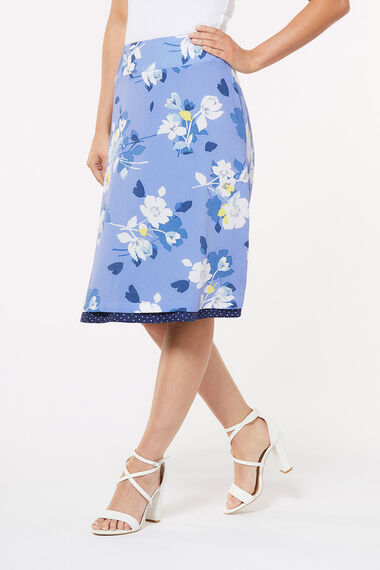 Pansy Floral Reversible Skirt