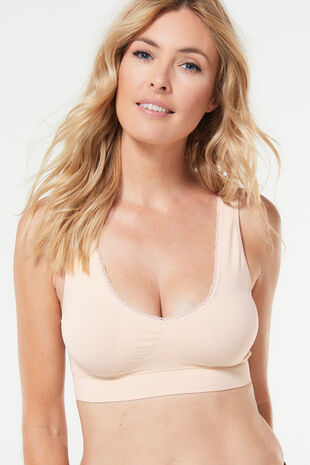 Smooth Curves Soft Cup Lace Trim Bra