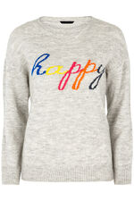 Happy Slogan Jumper