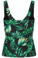 Leaf Print Tankini Top