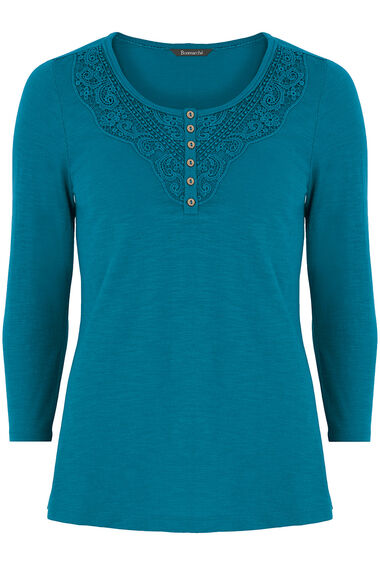 Cotton Lace Detail T-Shirt