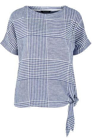 Short Sleeve Check Shell Top
