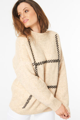 Cosy Check Jumper