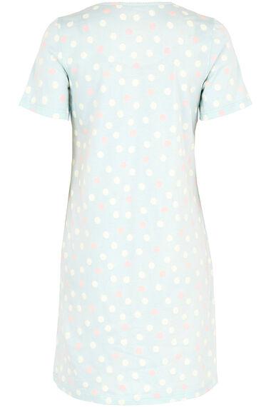 Blue Spot Print Nightdress