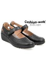 Cushion Walk Wedge Bar Shoe with Cut Out Detail