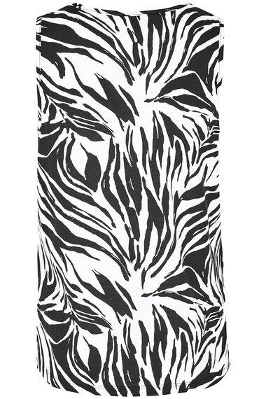 Zebra Print Lace Insert Vest