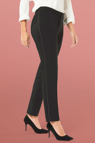 NaraWoman Black Embellished Trouser
