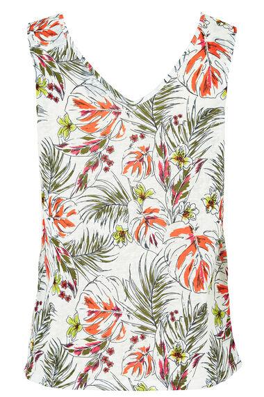 Tropical Palm Print Vest