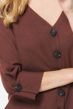 Button Through Blouse with Bar Back
