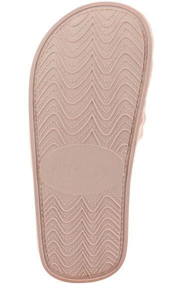 Butterfly Embroidered Velour Open Toe Slipper
