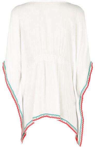 Embroidered Kaftan Top