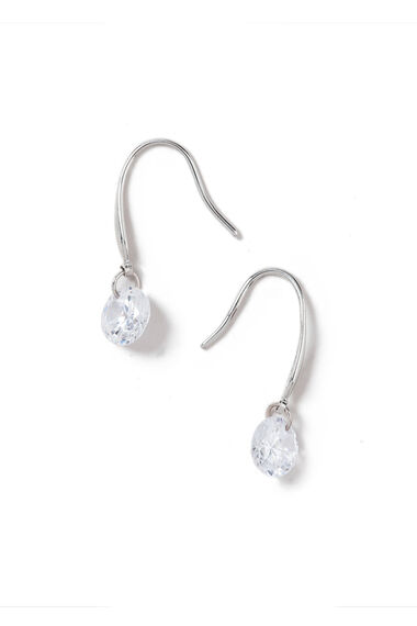 Muse Round Cubic Zirconia Drop Earrings