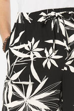 Palm Print Wide Leg Crop