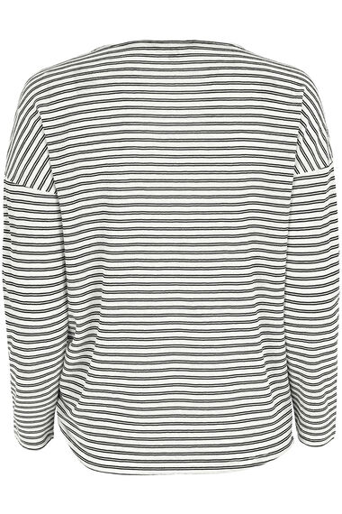 Micro Stripe with Tie Front T-Shirt