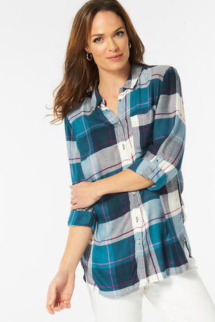 Collared Check Shirt