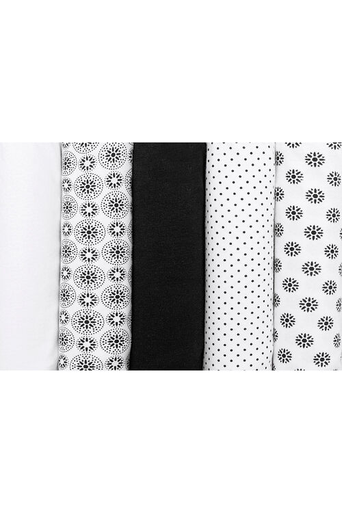 5 Pack Spot Floral Briefs