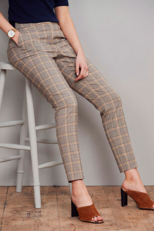 Salvari Slimline Large Check Trouser