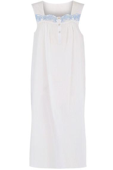 Sleeveless Dobby Spot Nightdress