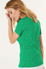 Square Neck Polka Dot T-Shirt
