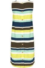 Striped Button Back Dress