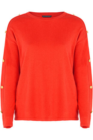 Button Sleeve Jumper