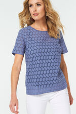 Broderie Shell Top