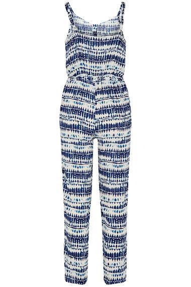 Tie Dye Jumpsuit With Belt