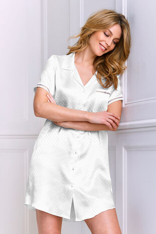 Jacquard Satin Nightdress
