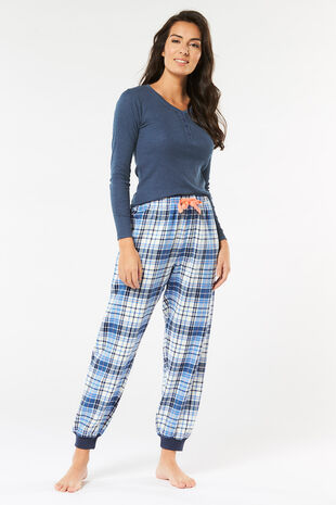 Blue Check Pyjama Set