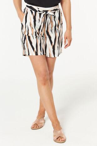 Zebra Flippy Belted Short