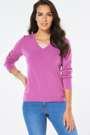 Supersoft Lace Insert Jumper