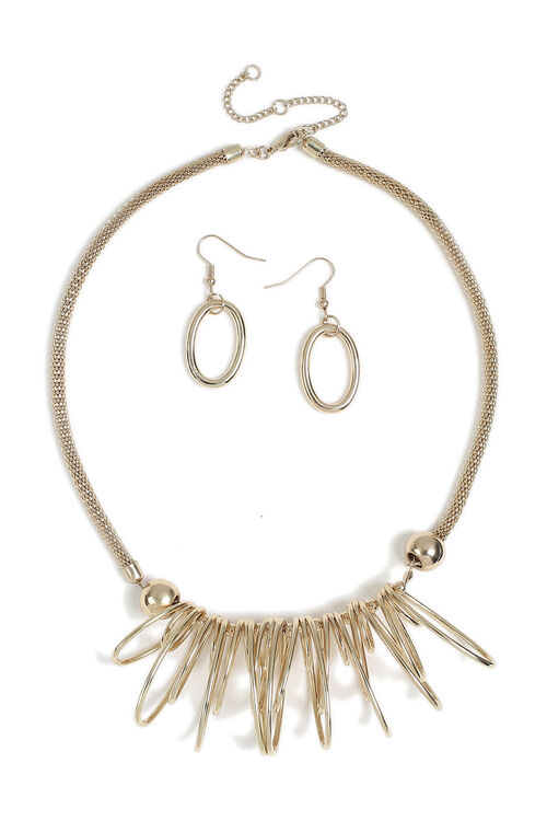 Muse Gold Organic Necklace & Earring Set
